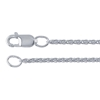Sterling Silver Solid Wheat Chain (most durable)