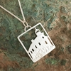 Marquette Harbor Lighthouse Michigan Upper Peninsula Sterling Silver U.P. pendant, Marquette, lake superior, beth millner, upper peninsula, michigan, handcrafted