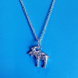 U.P. Moose Necklace Sterling Silver U.P. pendant, Marquette, lake superior, upper peninsula, michigan, handcrafted