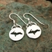 U.P. Earrings - Michigan Upper Peninsula and Lake Superior Sterling Silver - upear001