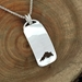U.P. Pendant - Michigan Upper Peninsula Lake Superior Sterling Silver Domed Cutout - uppen013