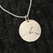 U.P. Pendant - Michigan Upper Peninsula and Lake Superior Keweenaw Sterling Silver  - uppen015