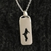 Michigan Upper Peninsula Pendant Tag Sterling Silver Cutout - uppentag03