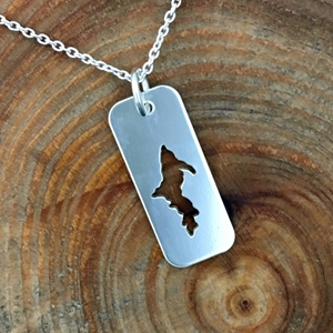 U.P. Pendant - Michigan Upper Peninsula Sterling Small Tag [clone] U.P. pendant, Marquette, lake superior, beth millner, upper peninsula, michigan, handcrafted