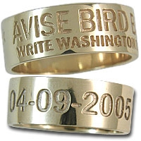 Duck Band Ring 14K Gold 8mm Wide