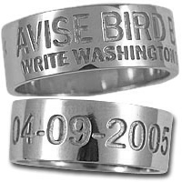 Duck Band Ring Sterling Silver 7mm Wide