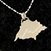 U.P. Pendant - Michigan Upper Peninsula and Lake Superior Sterling Silver - uppen007